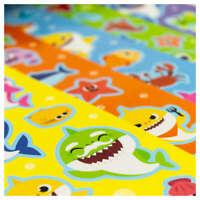 Baby Shark Sticker Fun - 5 Sheets of fun reusable Baby Shark stickers