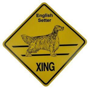 English Setter Dog Xing Sign