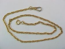 Pocket Watch Chain Multiple Braided Link Yelllow