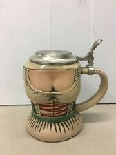 VTG OKTOBERFEST GERZ WOMAN BODY BUST BREAST CHEST LIDDED BEER BOOB STEIN GERMANY