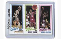1980-1981 Topps #139 LARRY BIRD - MAGIC JOHNSON - Rookie RP Card Mint