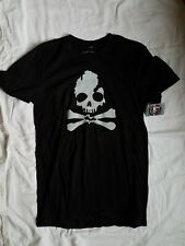 NWT Michigan Great Lakes State T-shirt Charcoal Gray Skull & Crossbones