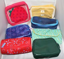 Clinique Travel Make-Up Bags Lot 7 pcs Travel Makeup Strawberry Blue Variety