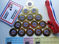 CONGATULATIONS/WELL DONE 2021 50MM METAL MEDAL ( X15 )/ RIBBON / CERTIFICATE