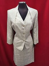 KASPER SKIRT SUIT/SIZE 18W/CHAMPAGNE/NEW WITH TAG/RETAIL$280/LINED
