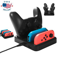 4 Port Controller Charger Stand Type-C Charging Dock Fit for Nintendo Switch