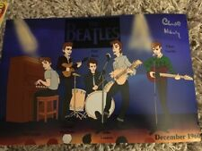CHAS NEWBY THE BEATLES SIGNED PHOTO PHOTOGRAPH LP VINYL RECORD QUARRYMEN LENNON