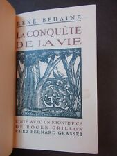 RENÉ BEHAINE 1924 EDITION ORIGINALE TIRAGE LUXE 1/3 PARAPHÉ+ENVOI AUTOGRAPHE EO!