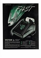 VINTAGE 1947 VICTOR ADDING MACHINE COMPANY ELECTRIC STANDARD FULL KEY AD PRINT