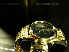 *NEW* EMPORIO ARMANI AR1893 MENS BETA GOLD CHRONOGRAPH WATCH