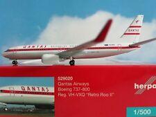 """529020Qantas Boeing 737-800 """"Retro Roo II"""" Herpa wings 1:500"""