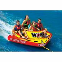 WOW Watersports Sister Trinity 4 Rider 4P Inflatable Tube Boat Towable 15-1080