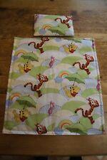 Handmade dolls teddies pram & cot bedding set Winnie the pooh