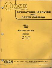 1972 ONAN NB INDUSTRIAL ENGINES 940-401 OPERATOR'S/SERVICE/PARTS MANUAL(374)