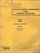 1972 Onan Nb Industrial Engines 940-401 Operator'S/Service/P arts Manual(374)
