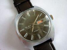 Rare Russian SLAVA Automatic 27 Jewels Day Date Wrist Watch USSR 1960's