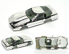 1990 TYCO CORVETTE ZR1 HO Slot Car BODY Factory Chrome Lightly Tinted Windshield