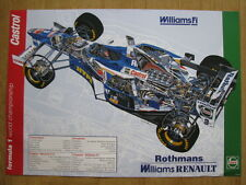 Poster Rothmans Williams Renault FW19 1997 #3 jacques Villeneuve (CAN) opengew.