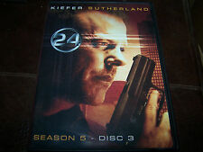 24 Season 5 Disc 3 Replacement Disc! Former Rental in good condition!