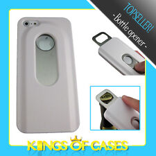 Apple iPhone 5 Mobile Phone Bottle opener Beer Bag Protector Cover Case in White