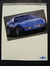 1986 Corvette 86 Chevy Chevrolet Corvette Vette Sales Brochure Picture NEW NOS