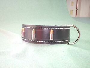 BULLET 2IN  DOG TRAINING COLLAR SCHUTZHUND POLICE K9 CUSTOM MADE SIZE COLOR ETC