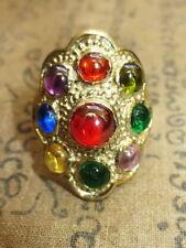 Rare magic multi-color naga eye ring super charm protective Thai Buddha amulets