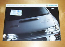 SUBARU IMPREZA THE RANGE SALES BROCHURE SBOI4. 2WD 4WD SALOON 4DR 5DR TURBO 2000