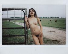 OOAK Original Instax Wide Polaroid Photo - Nude Woman Brunette Outdoor Natural