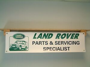 Land Rover Parts & Servicing BANNER Workshop Display Garage retail use