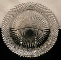 """Anchor Hocking MISS AMERICA CRYSTAL *10 1/4"""" GRILL PLATE W/STICKER*"""