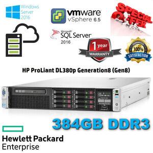 HP Proliant DL380p Gen8 2x E5-2640 3.00GHz Turbo 384GB RAM P420i/1GB 2X120GB SSD