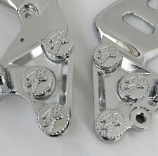 99-07-08-18 Hayabusa Chrome 3D Engraved Front Peg Bracket Mounting Bolts/Covers!