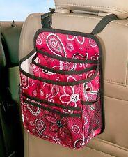 Backseat Car Organizer Kid's Travel Storage Games Toys Snacks Holder - Paisley