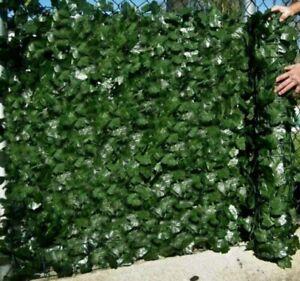 1Mx3M Sichtschutzhecke Windschutz Efeu Sichtschutz Balkonverkleidung Blätterzaun