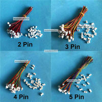 Micro JST 1.25mm 1.25 JST 2P 4-Pin Male Connector with Wire +Female Plug 20sets