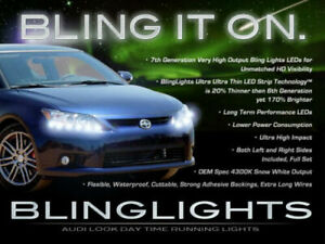BlingLights LED DRL Head Light Strips Daytime Running Lamps Kit for Scion tC