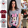 Summer Women's Mickey Minnie Mouse Short Sleeve T-Shirt Casual Tops Blouse Tee