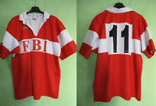Maillot Rugby Porté #11 FBI Force 15 rouge Shirt Force XV Club Vintage - XL