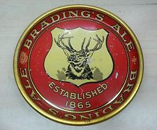 Antique advertising sign beer tray brading's ale deer head