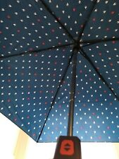 Nautica Umbrella / Navy Blue with Red and White Ship Pattern / New w/o Tags