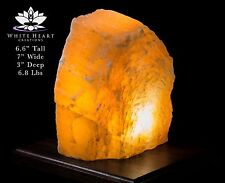 """6.6"""" Red Selenite Crystal Lamp With Black Walnut Base - RC-916-7 (Exact Lamp)"""