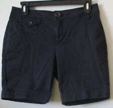 "Womens 2 DKNY Navy Blue Flat Front Shorts Walking Casual W 31"", L 3.5"", R 8.75"""