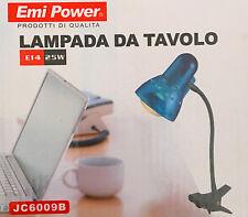 LAMPADA LAMPADE DA TAVOLO DA SCRIVANIA MENSOLA CON PINZA CLIP SNODABILE  25W