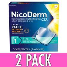 Nicoderm CQ Nicotine Patch Clear Step 1 to Quit Smoking 21mg 7 Count