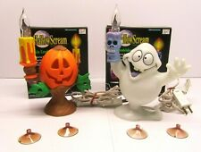Lot Trendmasters Hallowscream Ghost & Pumpkin Candelabra Original Box Decor