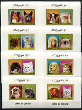 Umm Al-Qiwain 1972 Hunde Katzen Cats Dogs 662-73 Blocksatz Postfrisch MNH