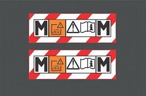 2x M CLASS STICKER 150X50 VACUUM HOVER EXTRACTOR FESTOOL DEWALT Laminated Decal