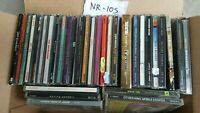 Lot of 30+ CDs Wholesale (NR-105) New Rock Lot Popular Bands and Artists etc