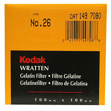 Kodak Wratten Gelatin Filter. 100 x 100 mm. No.26 cat 149 7080